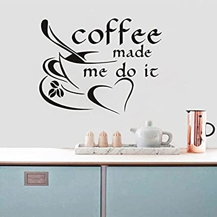 buy coffee make me do it wall stickers coffee cup with love heart