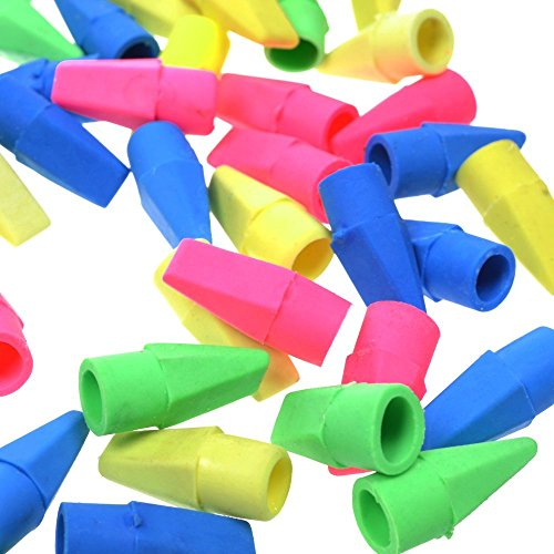 WT-PP 300 PCS Assorted Colors Pencil Cap Erasers