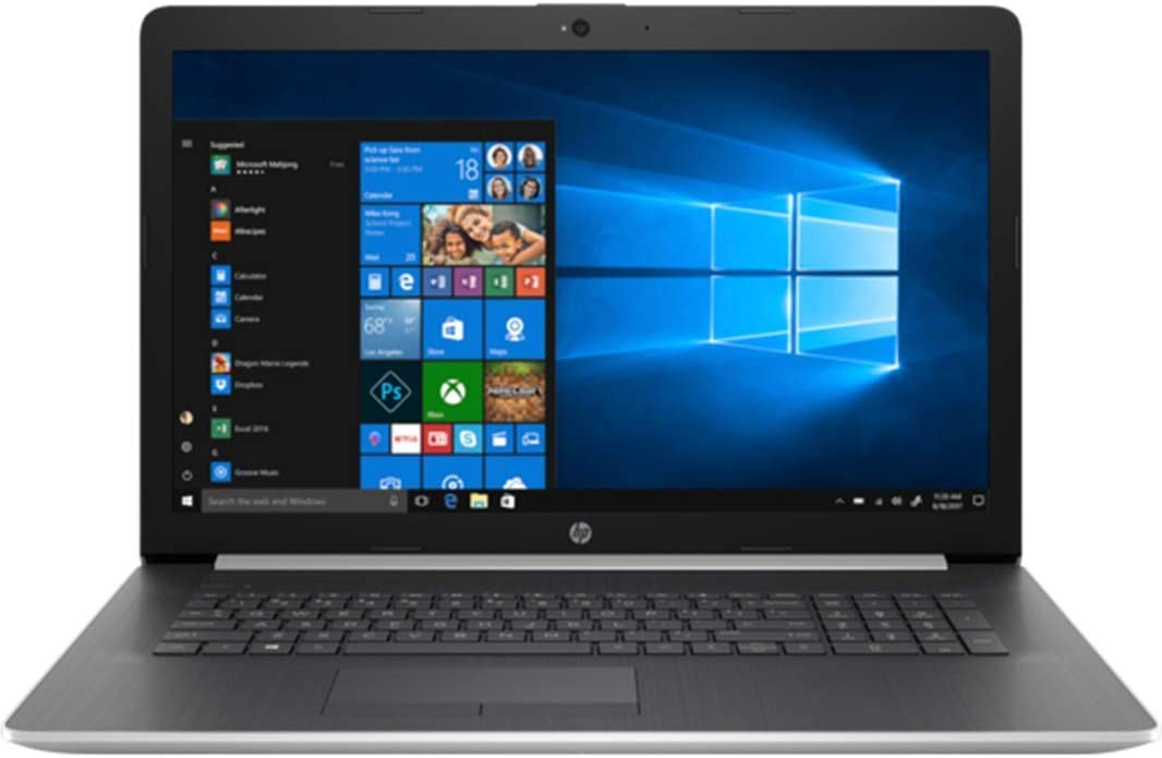"2019 HP 17.3"" HD+ Laptop Computer/ AMD A9-9425 Up to 3.7GHz Processor/ 24GB DDR4 Memory/ 1TB HDD/ DVDRW/ AMD Radeon R5 Graphics/ 802.11AC WiFi/ Bluetooth 4.2/ HDMI/ Silver/ Windows 10 Home (Renewed)"