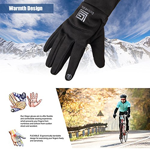 Oprad Touch Screen Gloves Winter Warm Windproof Non-Slip Lycra Wool Lined for Men Women Phone Texting Typing Indoors and Outdoors(Black)