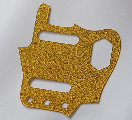 (bangdan Guitar Pickguard fits for USA Fender Vintage Jaguar Guitar, 1pcs Gold Sparkle)