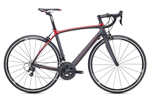 Kestrel Legend Shimano 105 Road Bike, X-Large/59 cm, Satin Carbon/Gloss Brick Red