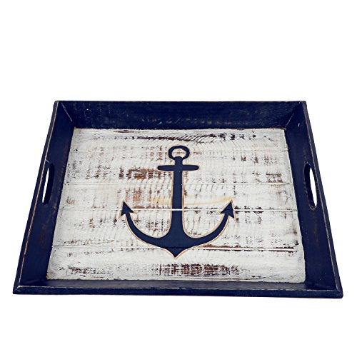 DEI 20096 Carved Anchor Tray, Blue by DEI