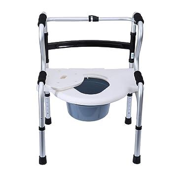 Andador Plegable - Cómoda Silla Inodoro Marcos Seguridad Ajustable ...