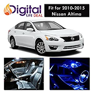 Digital life deal 9 x white interior led lights package kit for 2010 2015 nissan 2015 nissan altima interior lights