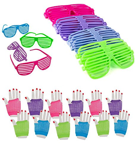 Dozen Fishnet Gloves Shutter Glasses