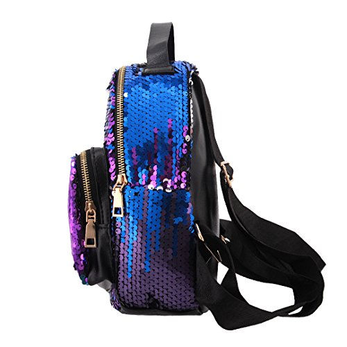 Bags Girls Backpack Travel Fashion Boutique Women Party Bag Pink Shoulder Sequined Novias for Blue xwCqpZ0TE