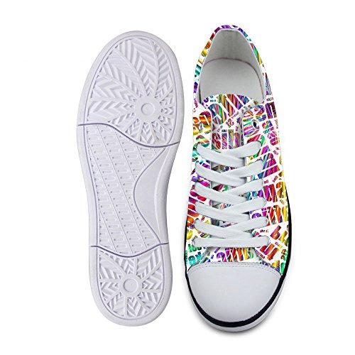 Per Te Disegni Elegante Unisex Stampa A Onde A Onda Scarpe Basse Basse Superiori Leggero Sneaker Moda Leggero Allacciatura B1