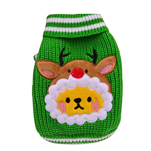 Boomtrader Christmas Pet Costume Winter Warm Knitted Unisex Dog Sweater Cute Cat Clothes Christmas Costume - Headless Person Halloween Costume
