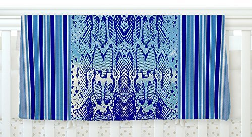 KESS InHouse Nina May Delf Snake Blue Aqua Fleece Baby Blanket 40 x 30 [並行輸入品]   B0785PJHS8