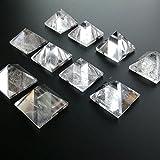 1 Piece Natural Rock Crystal Quartz Pyramid Triangle 1 1/4 inches