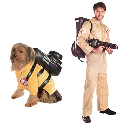 Ghostbusters Adult Standard and Large Dog Costume Bundle (Ghost Busters Dog)