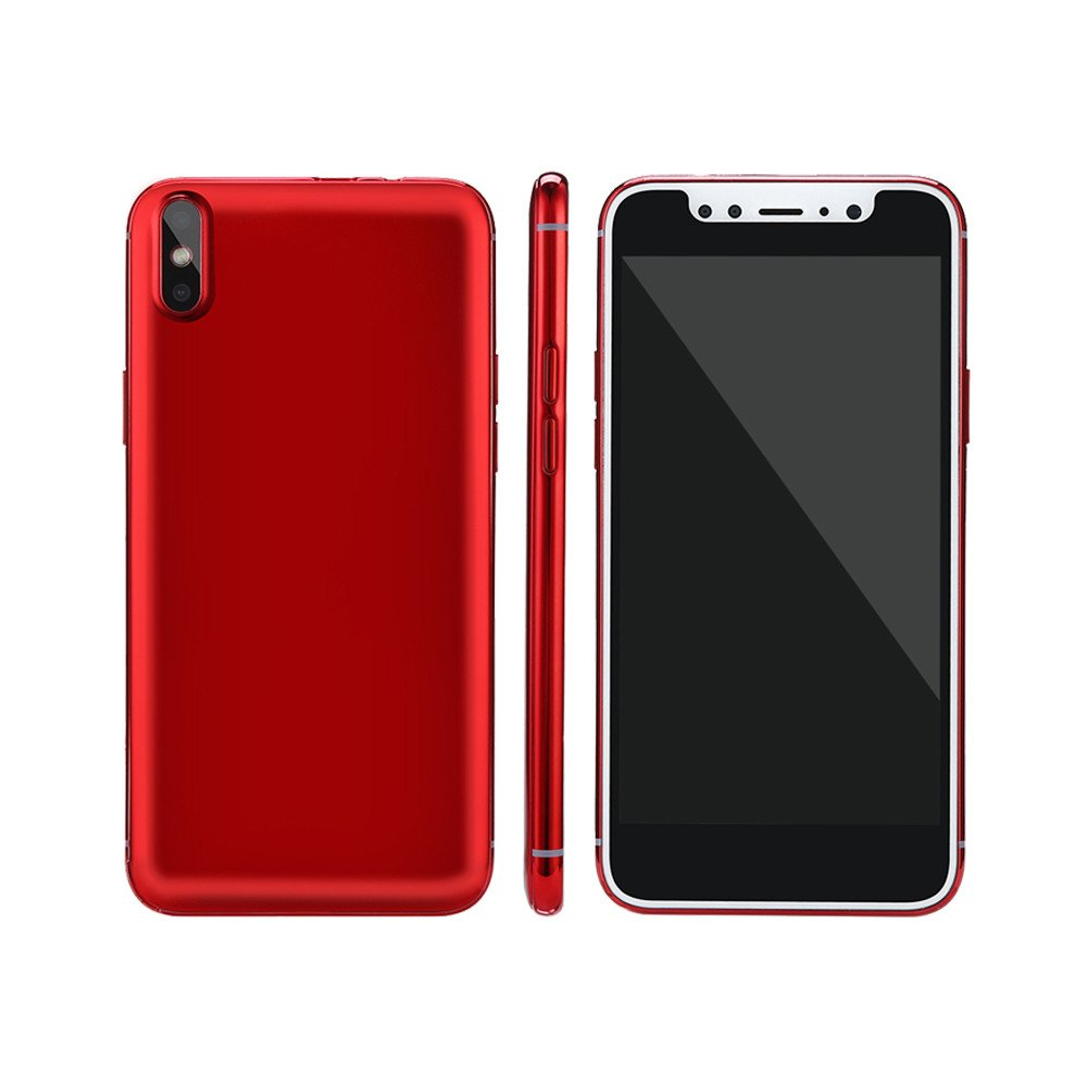 Unlocked Android Smartphone -5.0'' Full Screen Dual SIM Dual HD Camera Cell Phone 1G+4G GPS 3G Call Mobile Phone (Red, X8(Android 6.0)) by Aritone (Image #3)