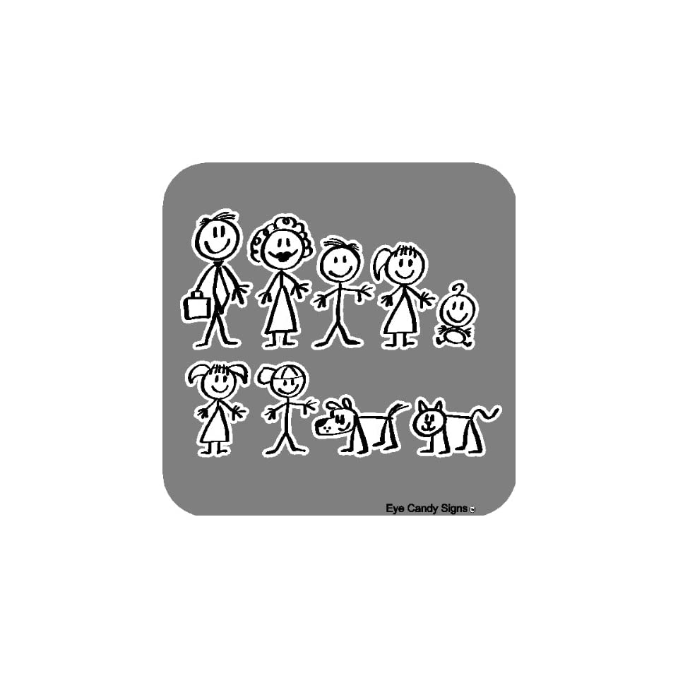 family people car decals sticker graphics item 3 by eye candy signs