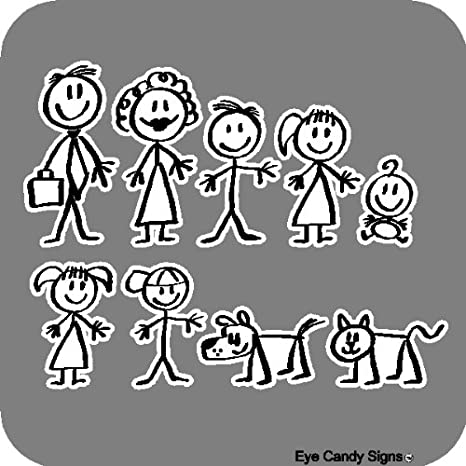 Stick Family People Car Decals Sticker Graphics Item