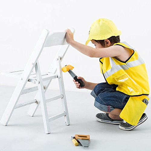 Construction Worker Costume Role Play Kit Set, Engineering Dress Up Gift Educational Toy For Halloween Activities Holidays Christmas for 2, 3, 4, 5, 6, 7 Year Old Kids Toddlers Boys - iPlay, iLearn by iPlay, iLearn (Image #3)