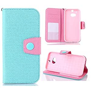 For HTC M8 Case,HTC one m8 case,Nacycase Case Cover For HTC M8,Two Colors Design Wallet Leather Case Cover With Credit Card Slots And Stand Function For HTC One M8 For Men For Women