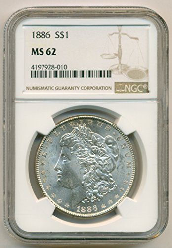 1886 Morgan Silver Dollar MS62 NGC