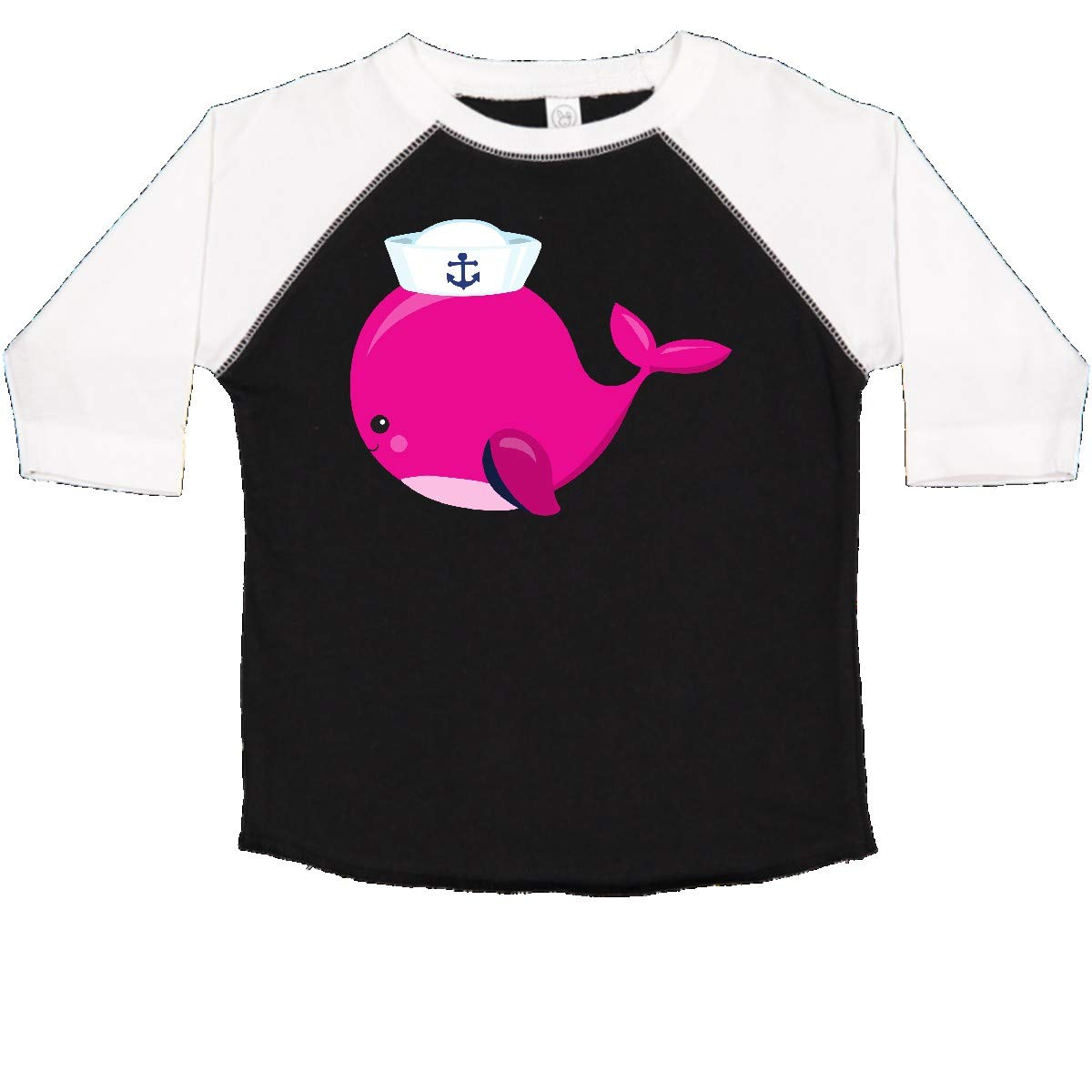 inktastic Pink Whale Wearing Sailor Hat Sailor Whale Toddler T-Shirt
