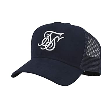 Gorra Siksilk Suede Bent Peak Trucker Navy: Amazon.es: Ropa y ...