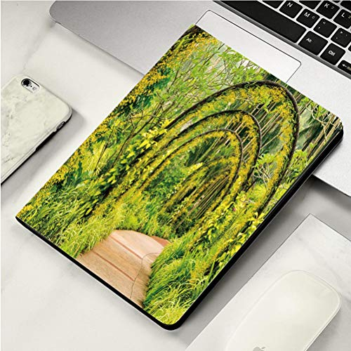 Stylish Print case for iPad air, ipad air2, Soft Back Ultra-Thin TPU Leather Smart case,Arch Way of Yellow Orchid from Singapore National Orchid Garden ()