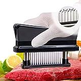 Meat Tenderizer, Fansidi Ultra Sharp Steak Tenderizer - Chicken Breast Tenderizer Coming with Cleaning Brush Best kitchen gadget for Tenderizing Steak, Beef, Pork, Fish, Chicken (Black)