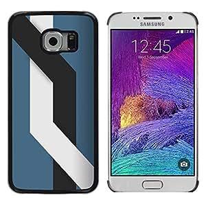 Caucho caso de Shell duro de la cubierta de accesorios de protección BY RAYDREAMMM - Samsung Galaxy S6 EDGE - Líneas