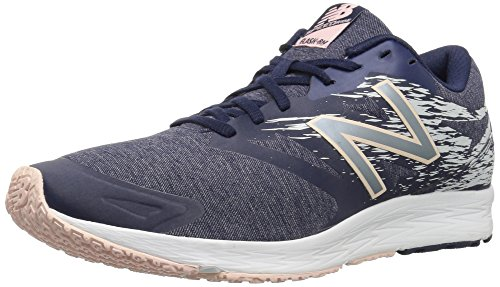 Nuovo Equilibrio Womens Flash V1 Running Shoe Navy / Silver / Pink