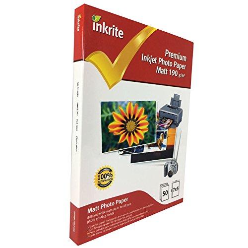 Inkrite 7 x 5 mm 190 GSM PhotoPlus Professional Paper - Matt (Pack of 50 Sheets) ()