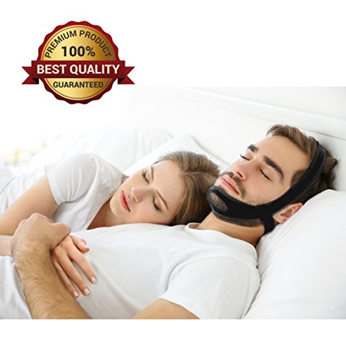 P&J Health - Stop Snoring Devices ,New Improved Version Triangle Type Comfortable Adjustable Stop Snoring Chin Straps, Best Snoring Solutions for You (Black)