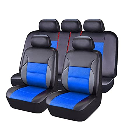 CAR PASS 11 Pieces Leather Universal Car Seat Covers Set