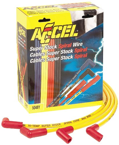 - Accel 5048Y 8 mm Super Stock Yellow Spiral Wire Set