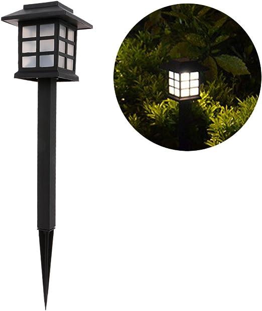 Lwei258 - Farol solar LED para exteriores, color blanco, para ...