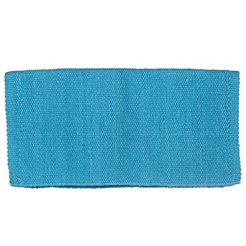 Mayatex San Juan Solid Saddle Blanket, Show Turquoise, 36 x 34-Inch