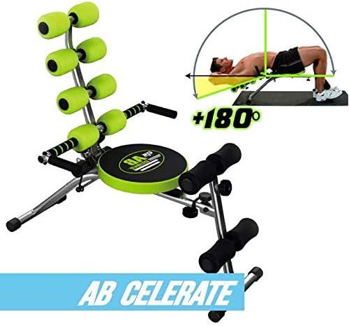 Color Negro y Verde Aparato Abdominal Gymform Celerate