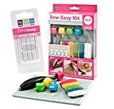 We R Memory Keepers Sew Easy Paper Piercing Kit with Extra Needles Set includes Stitch Piercer Handle, 4 Stitch Piercer Tool, Needles, Floss Skeins, and Foam Mat
