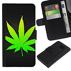 All Phone Most Case / Oferta Especial Cáscara Funda de cuero Monedero Cubierta de proteccion Caso / Wallet Case for Sony Xperia Z3 Compact // Weed Leaf