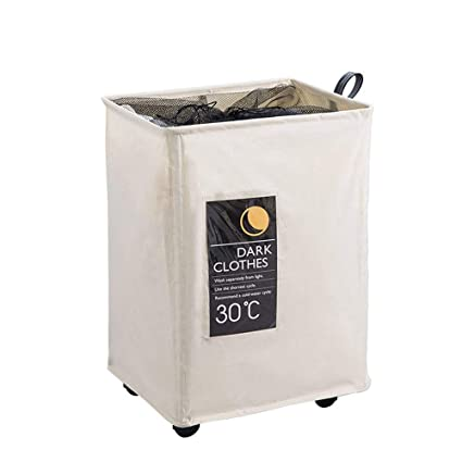 Olilio Flodable Laundry Hamper With Wheels Rolling Laundry Basket For Dirtry Clothes Storagelaundry