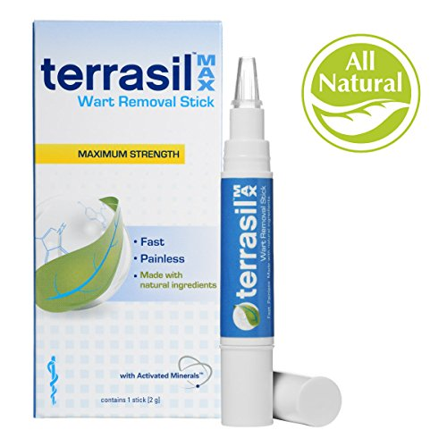 Terrasil® Wart Removal Stick MAX - Pain-free, Patented, 100% Guaranteed, Effective wart removal good for common warts and plantar warts on the hands and feet - 1 stick