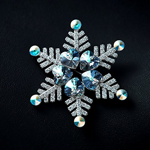 IUHA Christmas Snowflake Sparkling Brooch Made with Swarovski Crystals Party Holiday for Women Girls Gift by IUHA (Image #4)