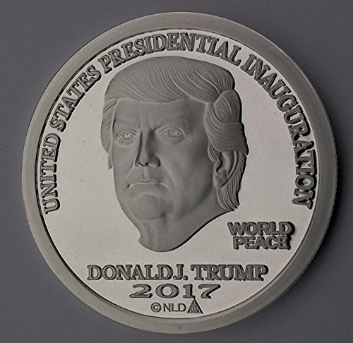 (2017 DONALD TRUMP INAUGURAL SILVER DOLLAR COIN $25 1 TROY OZ. 999 $25 Brilliant Uncirculated)