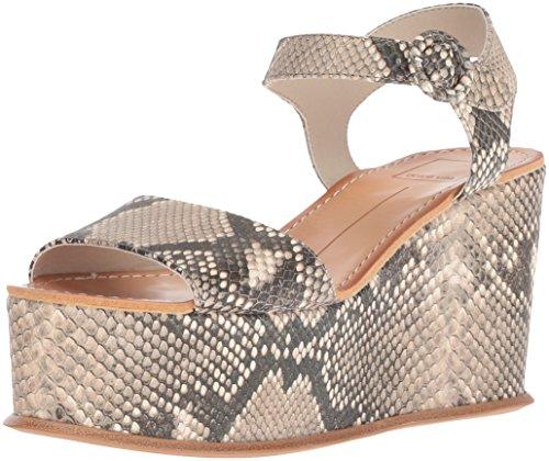Dolce Vita Women's Datiah Wedge Sandal, Snake Print Embossed Leather, 8 M US Embossed Leather Wedge Sandal
