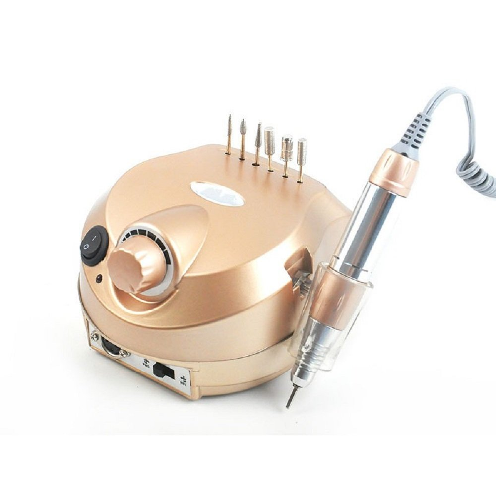 35000RPM Electric Nail Drill Machine Polisher Tools Nail Art Bits Manicure Kit (Gold) YAVOCOS