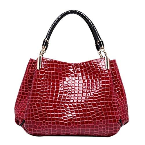 Clearance!Leather Handbag Shoulder Bag,Rakkiss Woman Messenger Tote Large Capacity Bags Vintage Messenger Satchel Bags