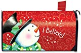 Briarwood Lane I Believe Magnetic Mailbox Cover Christmas Snowman Standard