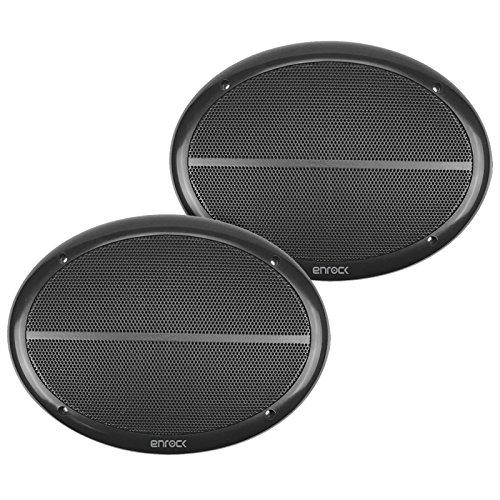 Enrock Marine EM692B Black Dual 6X9 Inch Weather Resistant Full Range Speakers 250 Watts Peak (Pair) by EnrockMarine (Image #1)
