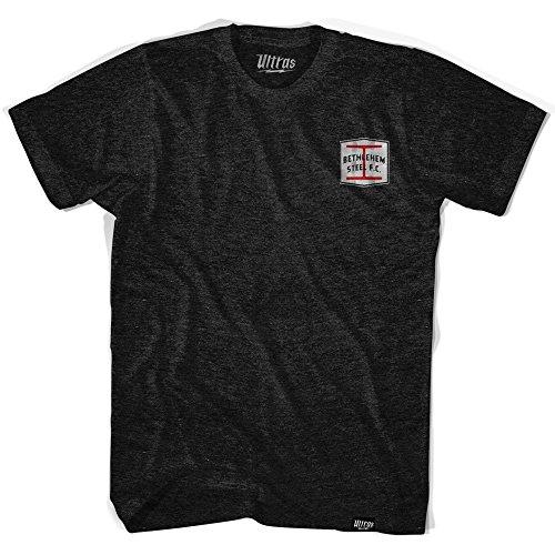 fan products of Bethlehem Steel Artisan Soccer T-shirt, Black, Adult Large