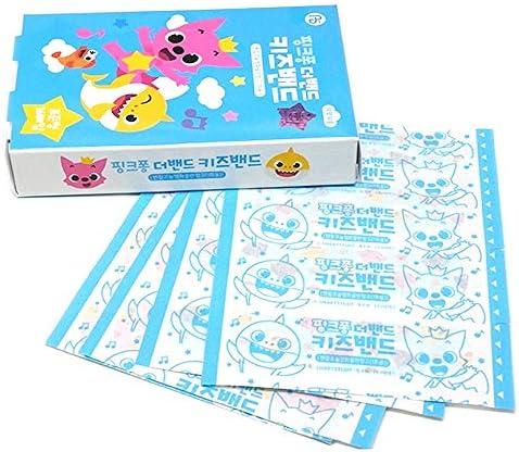 515%2BwFFWVYL. AC - Baby Shark Family Kid Friendly First Aids 32pcs Character Pattern Bandages : 2 Packs (16pcs X 2)