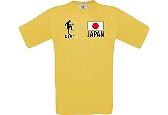 Shirtstown Camiseta De Hombres Camiseta de Fútbol Japón con Su Nombre Deseado Estampado: Amazon.es: Ropa y accesorios