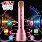Wireless Karaoke Microphone for Kids, Portable Kids Microphone Child Echo Mic Karaoke Machine with Speaker for Boys Girls Adult Party Music Singing Playing Gift, Support Android IOS Smartphone -Pink